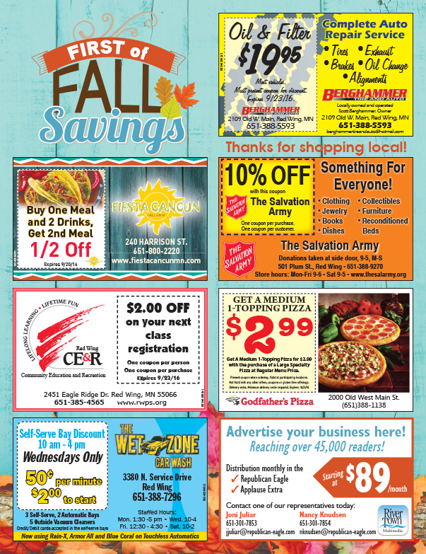 Red Wing Shop Local We-Prints Plus Newspaper Insert by Any Door Marketing