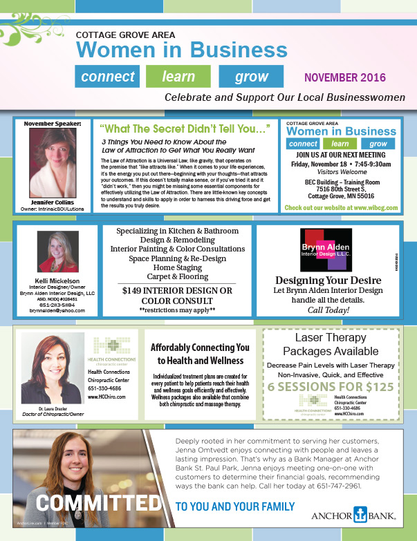 Cottage Grove MN Women in Business We-Prints Plus Newspaper Insert by Any Door Marketing