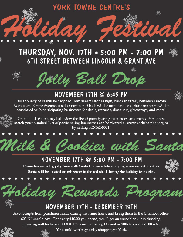 York Towne Centre's Holida Festival We-Prints Plus Newspaper Insert by Any Door Marketing