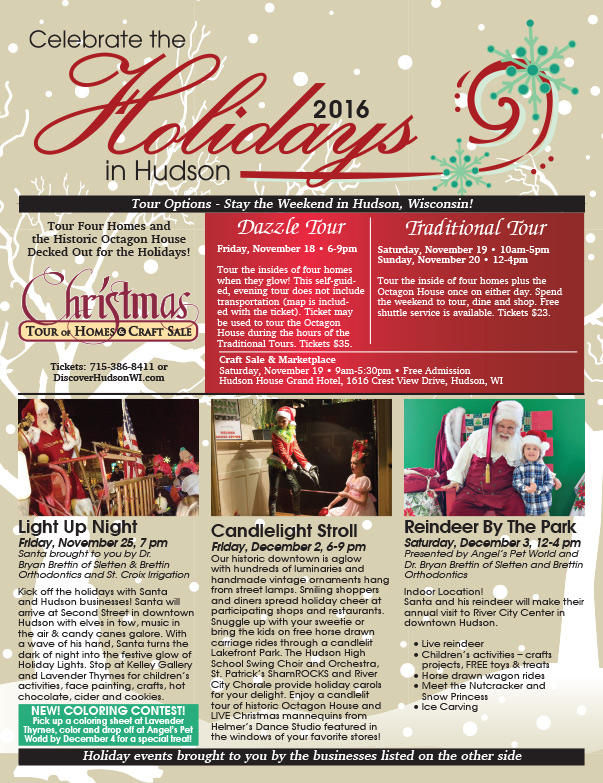 Holidays in Hudson WI We-Prints Plus Newspaper Insert by Any Door Marketing