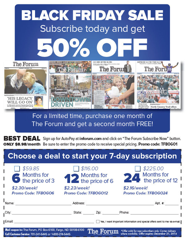 The Forum We-Prints Plus Newspaper Insert by Any Door Marketing