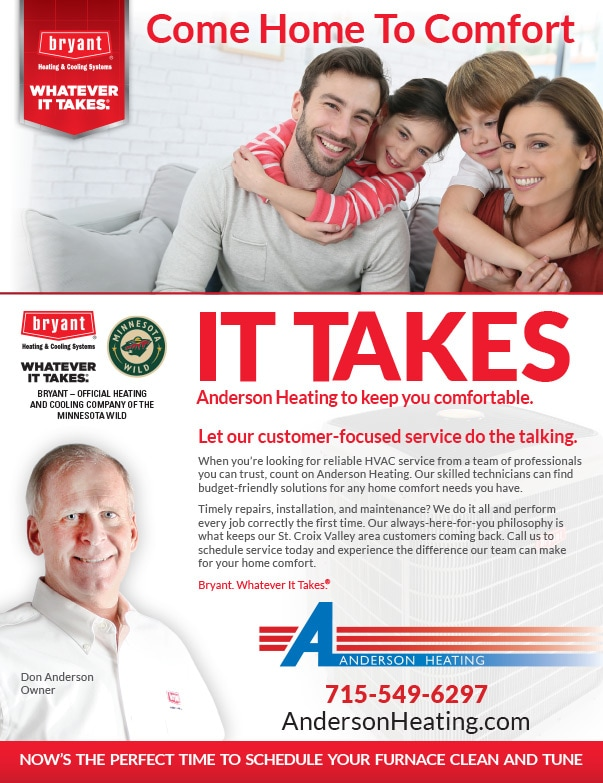 Anderson Heating and Cooling We-Prints Plus Newspaper Insert by Any Door Marketing