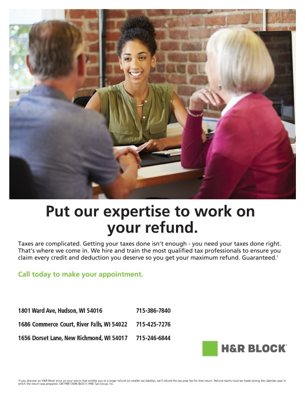H&R Block We-Prints Plus Newspaper Insert by Any Door Marketing