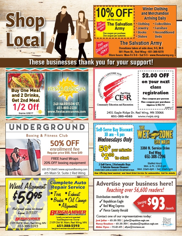 Rivertown Shop Local We-Prints Plus Newspaper Insert by Any Door Marketing