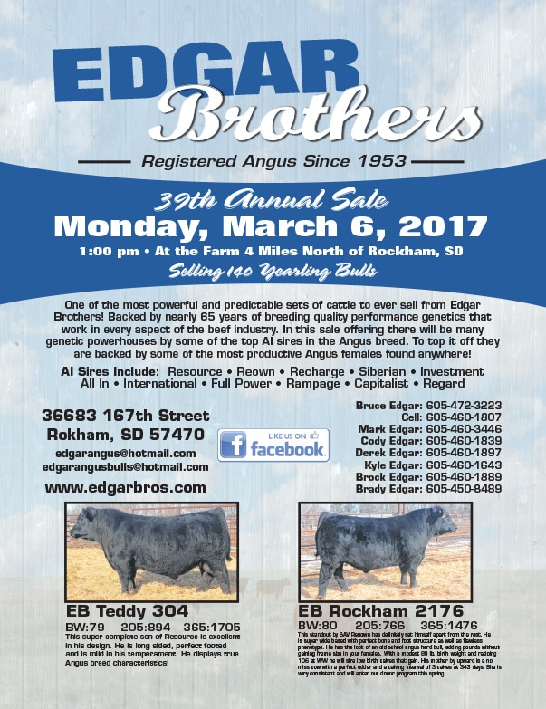 Edgar Brothers 39th Annual Sale We-Prints Plus Newspaper Insert by Any Door Marketing