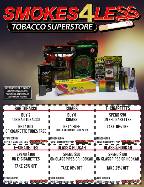 Smokes 4 Less Tobacco Superstore We-Prints Plus Newspaper Insert by Any Door Marketing