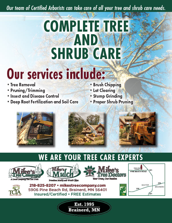Mike's Tree Company We-Prints Plus newspaper insert brought to you by Any Door Marketing