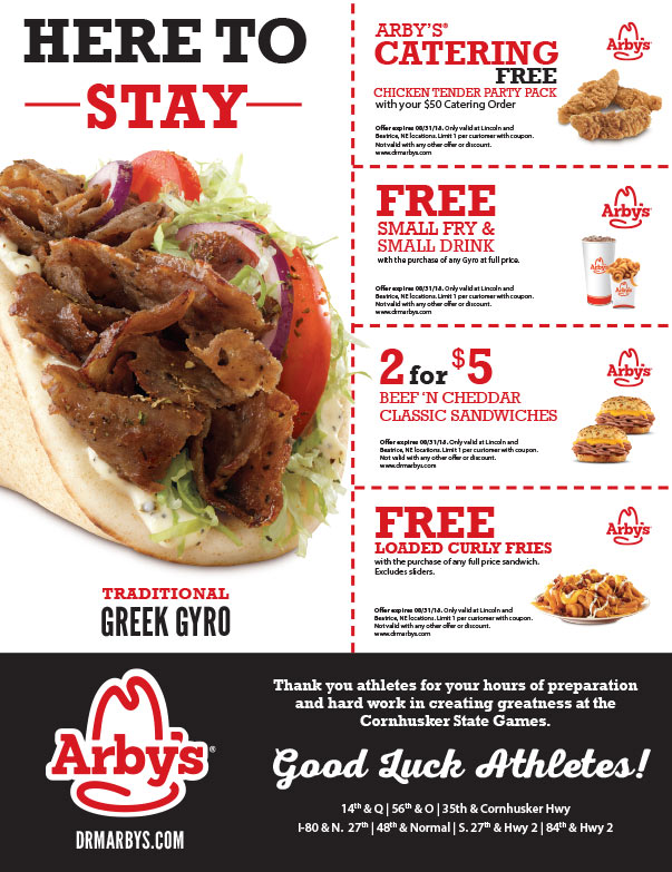 Arby's We-Prints Plus newspaper insert brought to you by Any Door Marketing
