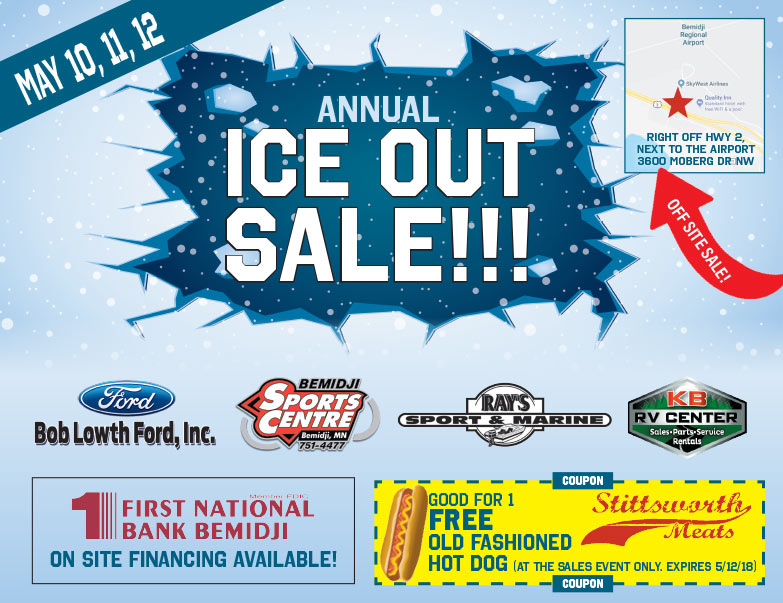 Bob Lowth Ford Annual Ice Out Sale We-Prints Plus newspaper insert brought to you by Any Door Marketing