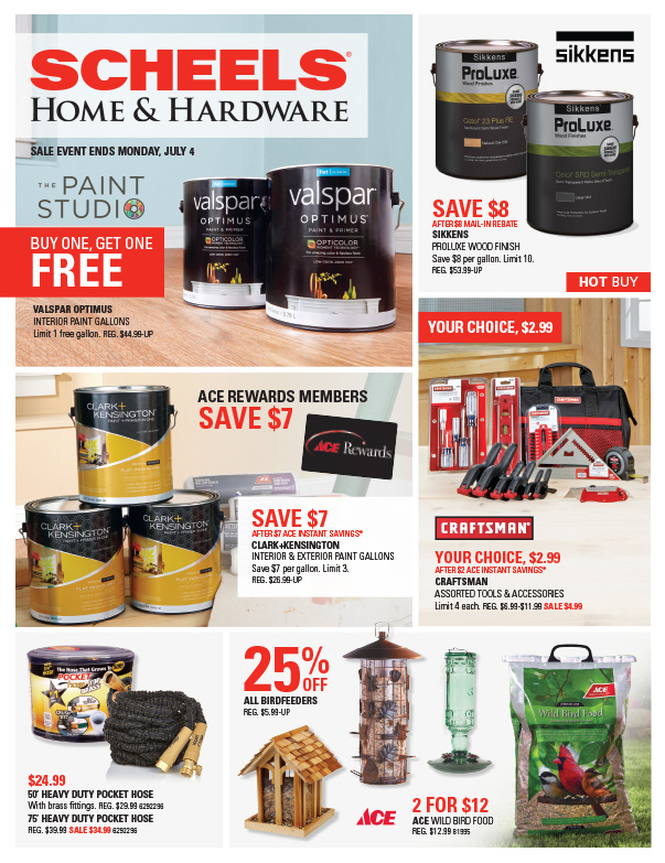 Scheels Home and Hardware We-Prints Plus Newspaper Insert, Any Door Marketing