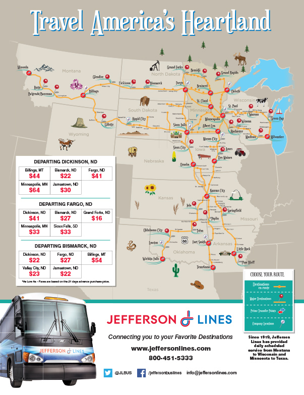 Jefferson Lines We-Prints Plus Newspaper Insert, Any Door Marketing