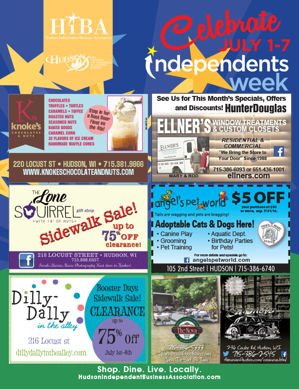 Hudson HIBA Shop Local We-Prints Plus Newspaper Insert, Any Door Marketing