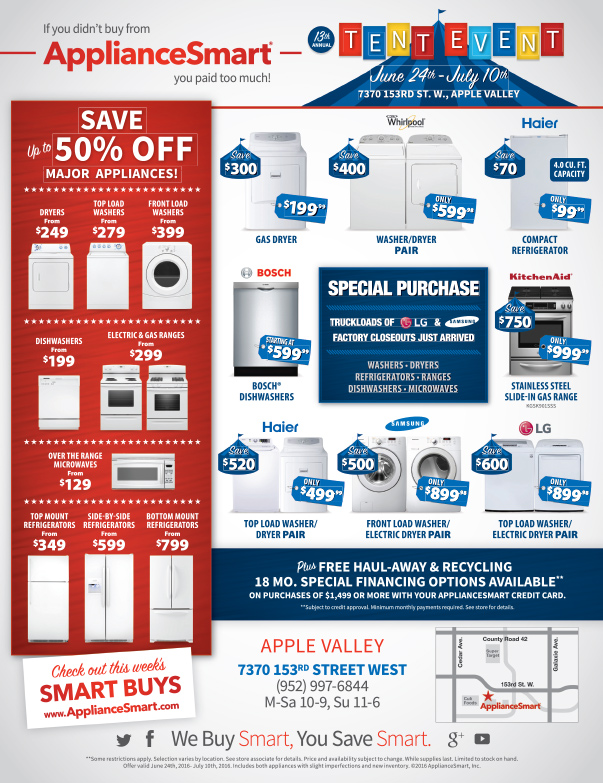 ApplianceSmart We-Prints Plus Newspaper Insert, Any Door Marketing