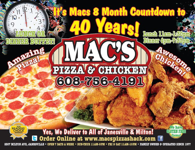 Mac's Pizza We-Prints Plus Newspaper Insert, Any Door Marketing