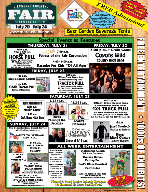 St. Croix County Fair We-Prints Plus Newspaper Insert, Any Door Marketing