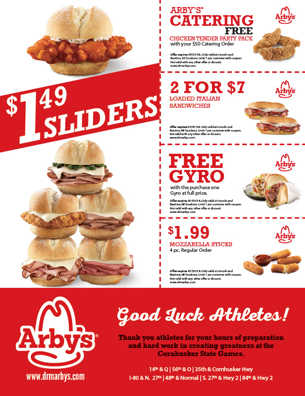 Arby's We-Prints Plus Newspaper Insert, Any Door Marketing