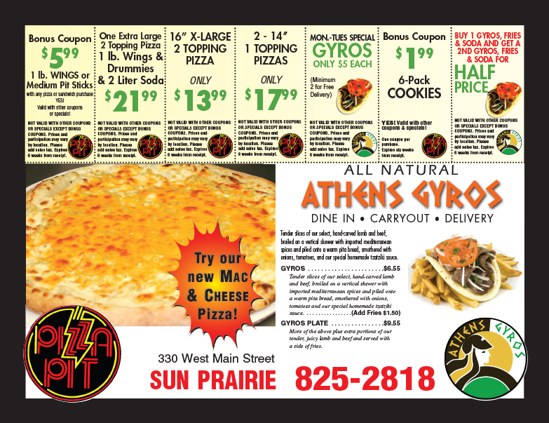 Athens Gyros We-Prints Plus Newspaper Insert, Any Door Marketing