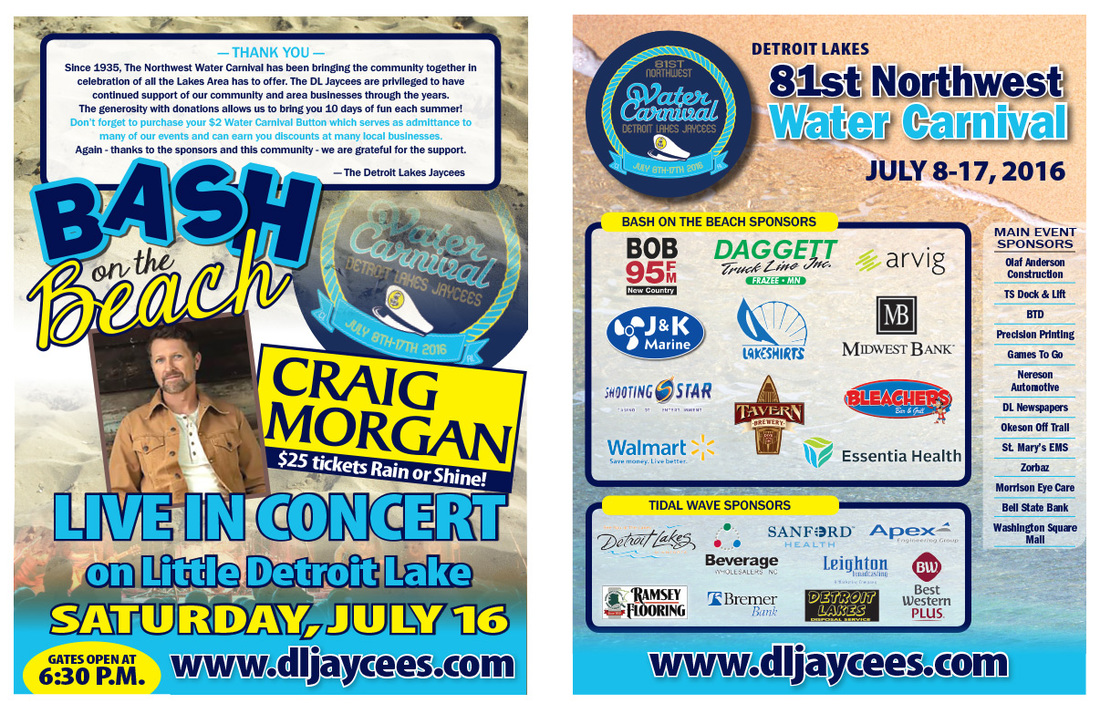 Detroit Lakes Water Carnival We-Prints Plus Newspaper Insert, Any Door Marketing