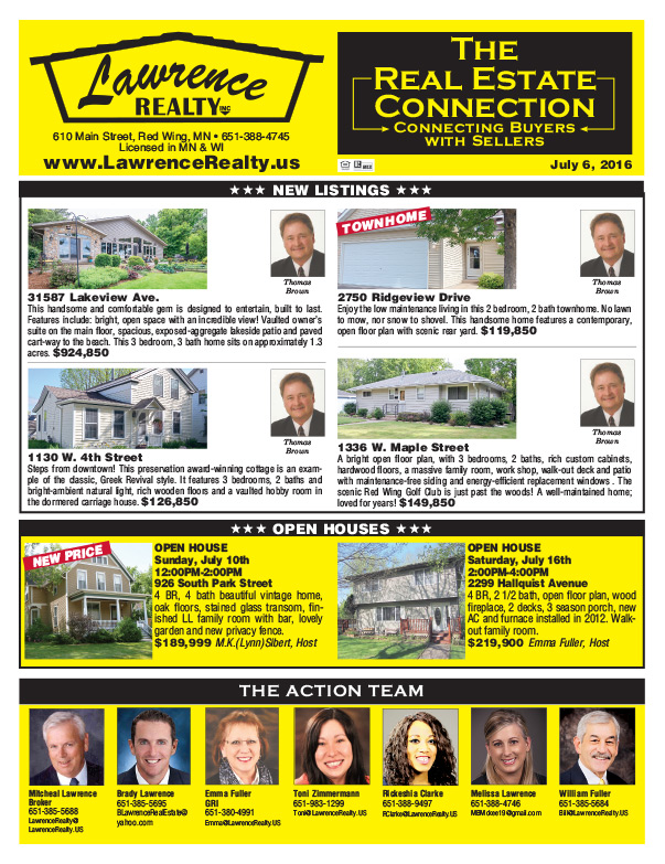 Lawrence Real Estate We-Prints Plus Newspaper Insert, Any Door Marketing