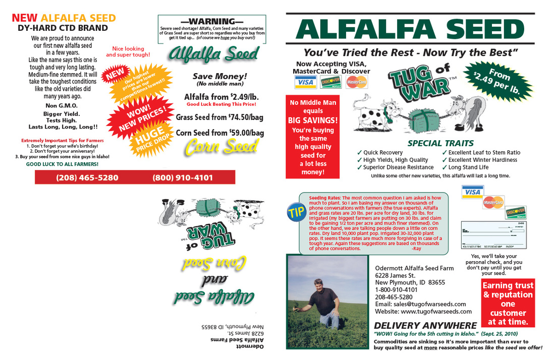 Alfalfa Seed We-Prints Plus Newspaper Insert, Any Door Marketing