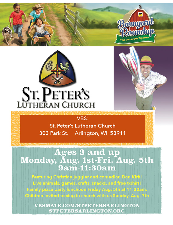 St. Peter's Lutheran Church We-Prints Plus Newspaper Insert by Any Door Marketing