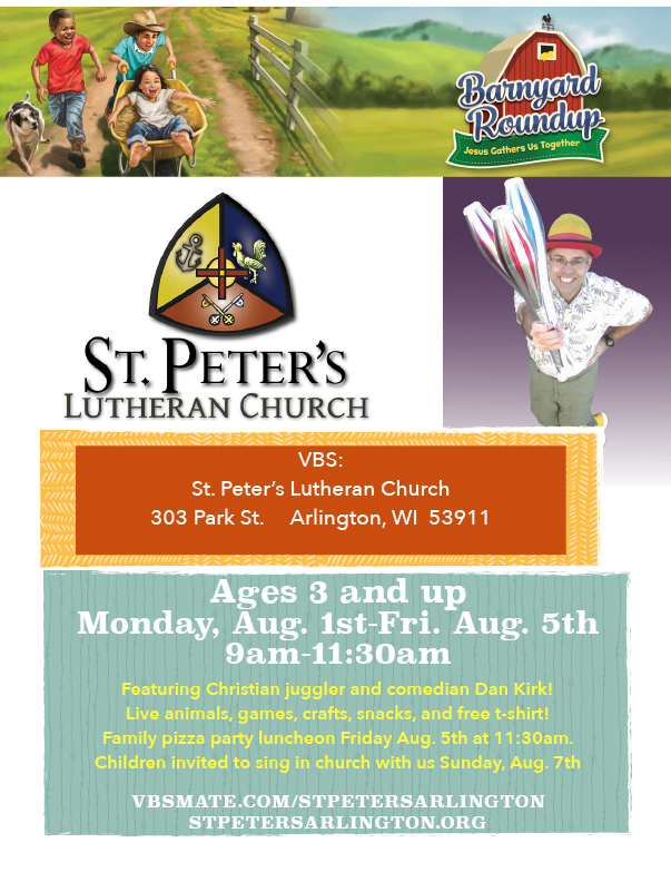 St. Peters Lutheran Church We-Prints Plus Newspaper Insert, Any Door Marketing