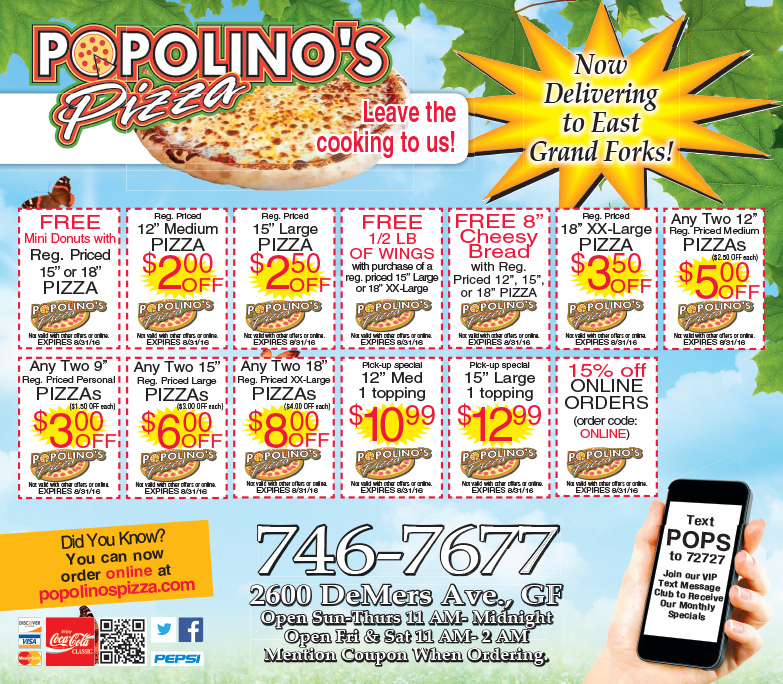 Popolino's Pizza We-Prints Plus Newspaper Insert by Any Door Marketing