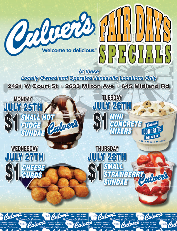 Culver's We-Prints Plus Newspaper Insert by Any Door Marketing