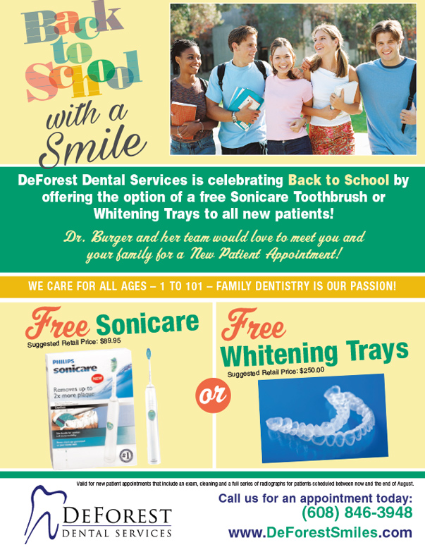 DeForest Dental Services We-Prints Plus Newspaper Insert by Any Door Marketing