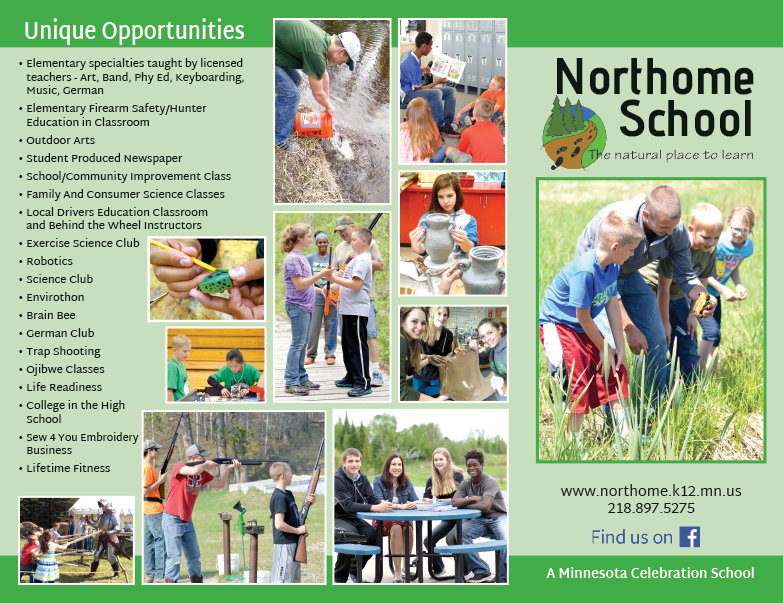 Northome School We-Prints Plus Newspaper Insert by Any Door Marketing