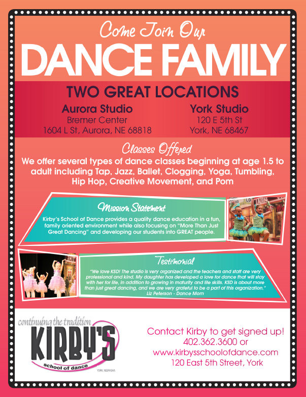 Kirby's School of Dance We-Prints Plus Newspaper Insert by Any Door Marketing