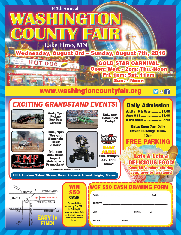 Washington County Fair We-Prints Plus Newspaper Insert by Any Door Marketing
