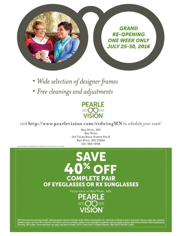 Pearl Vision We-Prints Plus Newspaper Insert by Any Door Marketing