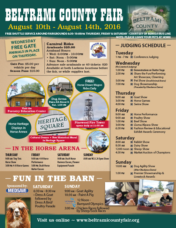 Beltrami County Fair We-Prints Plus Newspaper Insert by Any Door Marketing