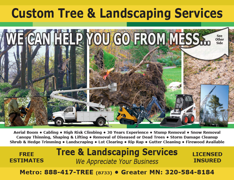 Tree and Landscaping Business We-Prints Plus Newspaper Insert by Any Door Marketing