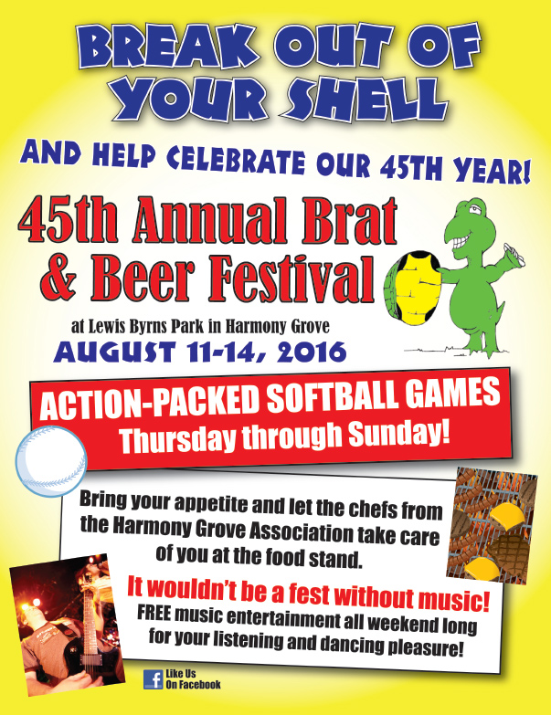 Brat and Beer Festival We-Prints Plus Newspaper Insert by Any Door Marketing
