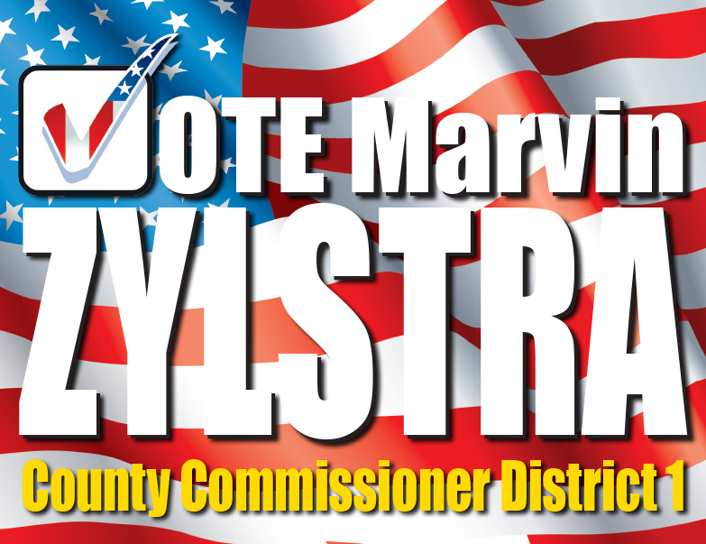 Vote Marvin Zylstra We-Prints Plus Newspaper Insert by Any Door Marketing