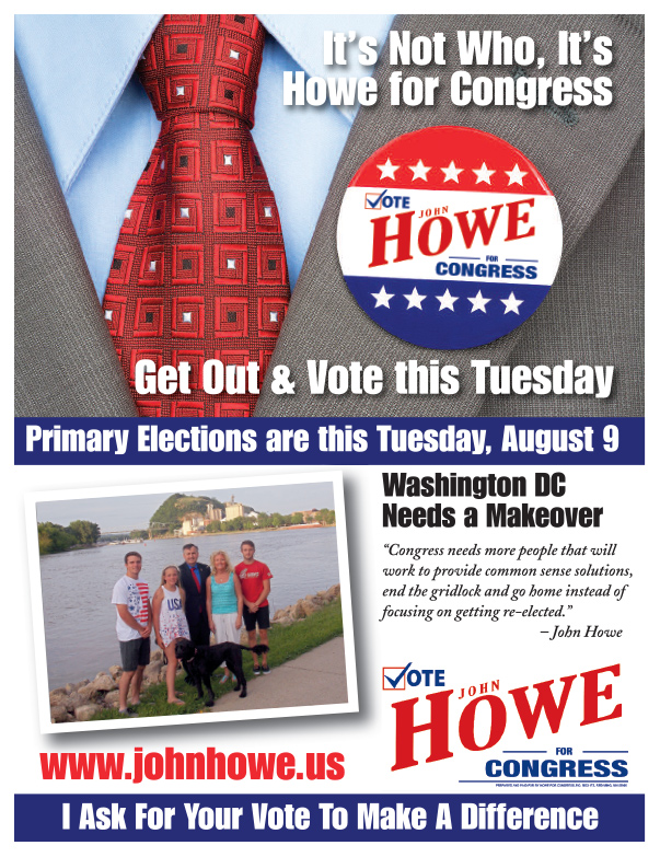 John Howe for Congress We-Prints Plus Newspaper Insert by Any Door Marketing
