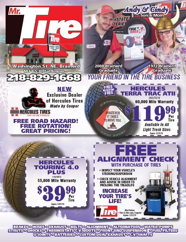 Mr. Tire We-Prints Plus Insert by Any Door Marketing