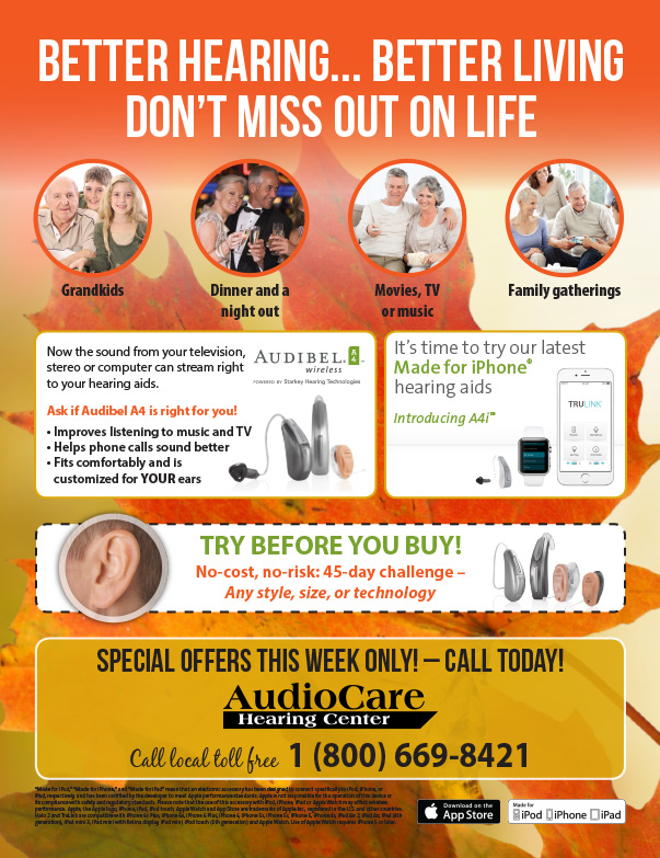 AudioCare Hearing Center We-Prints Plus Newspaper Insert by Any Door Marketing