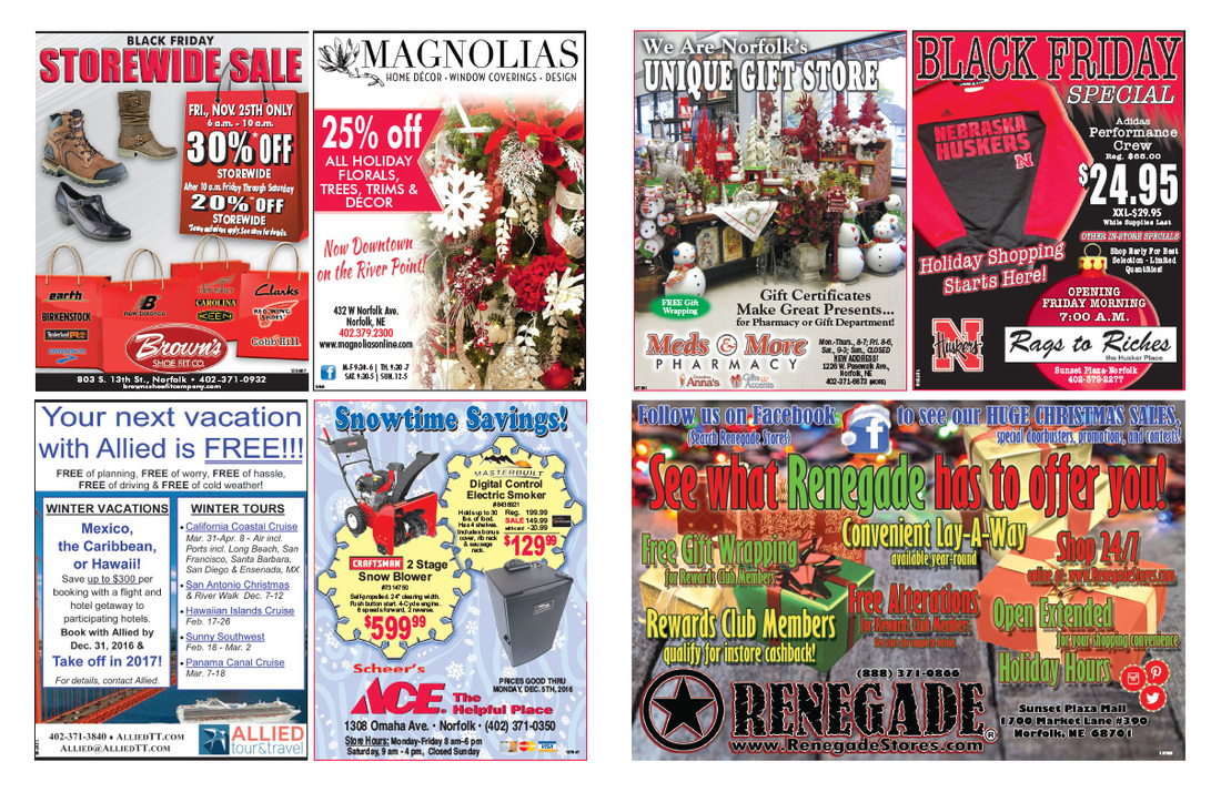Norfolk NE Shop Local We-Prints Plus Newspaper Insert by Any Door Marketing