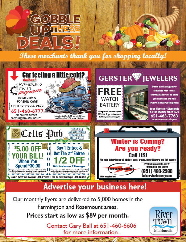 Farmington MN Shop Local We-Prints Plus Newspaper Insert by Any Door Marketing