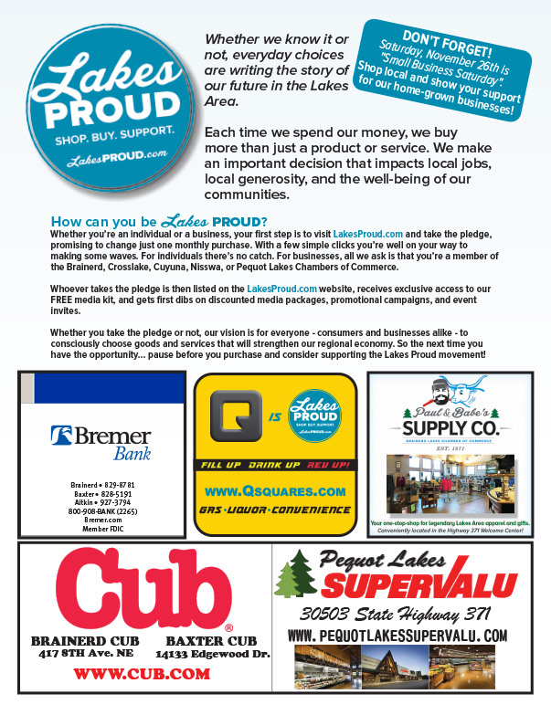 LakesProud.com We-Prints Plus Newspaper Insert by Any Door Marketing