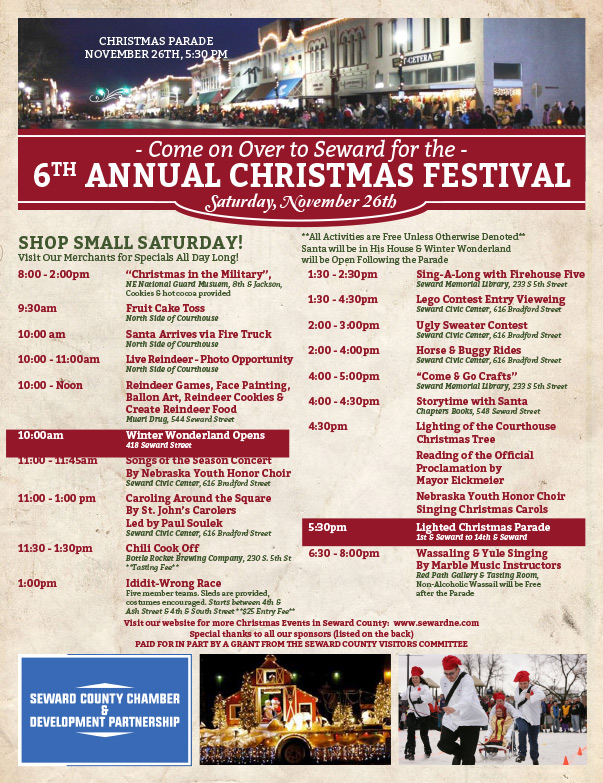 Seward NE 6th Annual Christmas Festival We-Prints Plus Newspaper Insert by Any Door Marketing