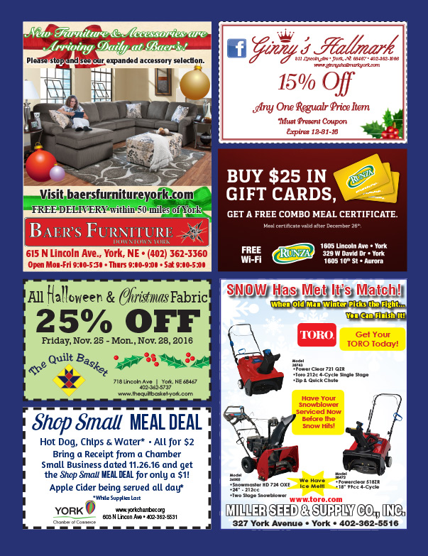 York NE Shop Local We-Prints Plus Newspaper Insert by Any Door Marketing
