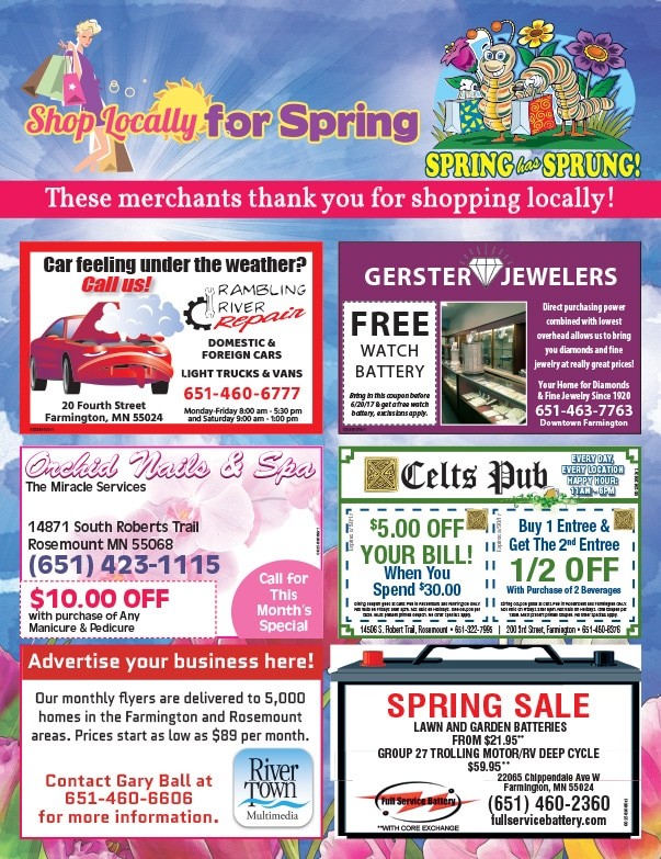 Farmington, MN Shop Local We-Prints Plus Newspaper Insert by Any Door Marketing