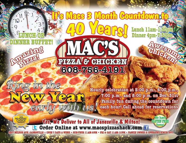 Mac's Pizza We-Prints Plus Newspaper Insert by Any Door Marketing