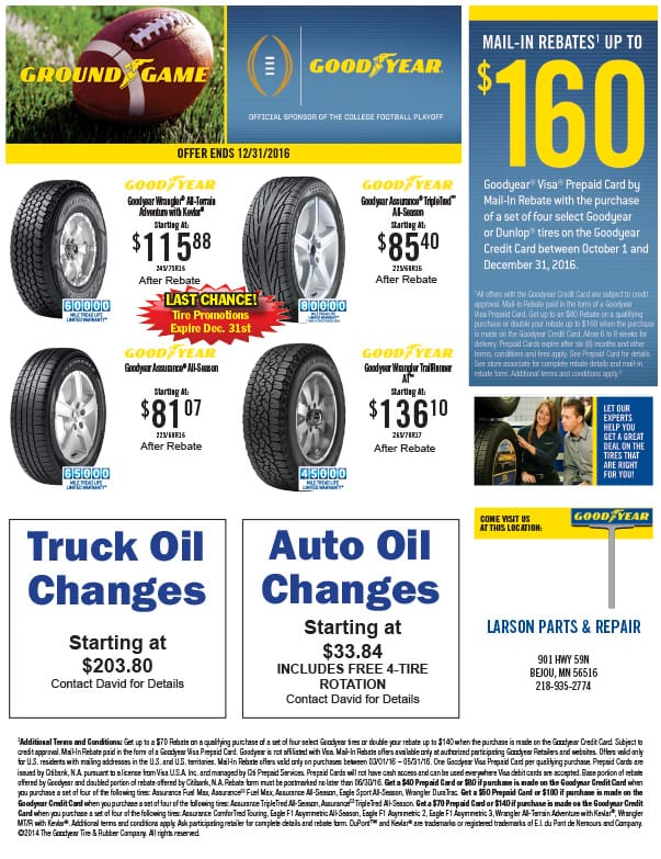 Goodyear We-Prints Plus Newspaper Insert by Any Door Marketing