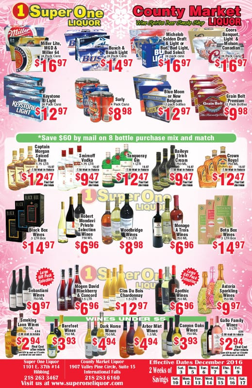 Super One Liquor We-Prints Plus Newspaper Insert by Any Door Marketing