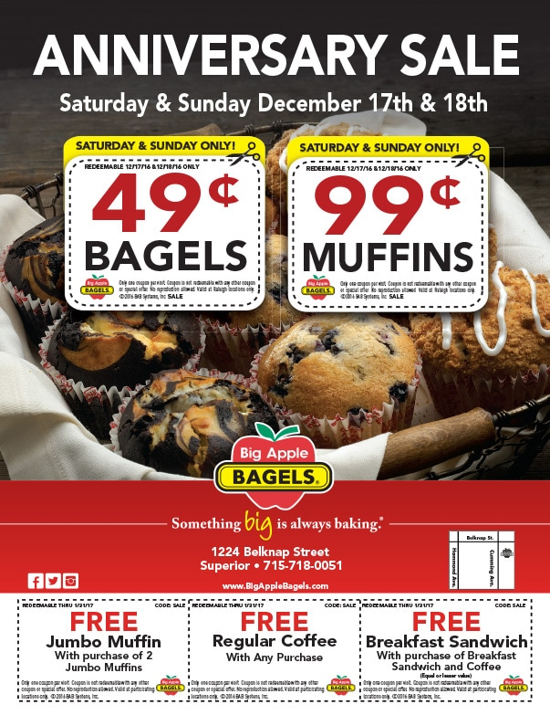 Big Apple Begals We-Prints Plus Newspaper Insert by Any Door Marketing